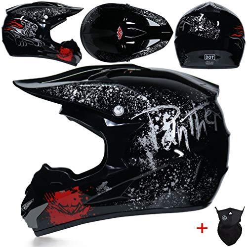 Off Road caschi da moto adolescenti adulti antiurto luce integrale moto motocross casco downhill corsa mountain bike tappi di sicurezza in tutte le stagio