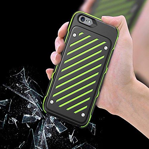 IPhone 6Plus / 6S Plus (5,5 pouces) de cas, [série épée] 2 en 1 Collision Couleurs double couche antichoc Protection complète Téléphone cellulaire Colorful Cover Case (iphone 6Plus/6sPlus, White) Green