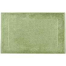 Homescapes Imperial Plain Sage Green Bath Mat 50 x 80 cm - Super Soft Bathroom Mat - 100% Turkish Cotton Shower Mat