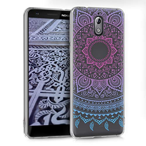 kwmobile Nokia 3.1 (2018) Hülle - Handyhülle für Nokia 3.1 (2018) - Handy Case in Blau Pink Transparent
