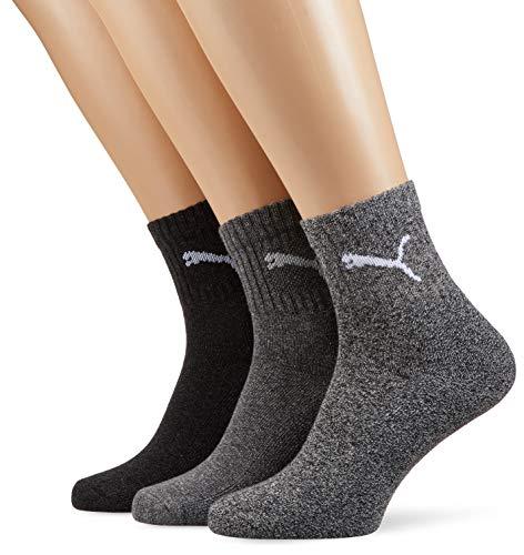 Puma Unisex Crew Socks Socken Sportsocken MIT FROTTEESOHLE 18er Pack (43/46, anthracite/grey)