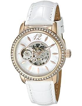 Stuhrling Original 856.03 Damen-Armbanduhr Analog Automatik Leder