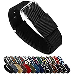 Barton reloj bandas–elección de color, longitud y anchura (18mm, 20mm, 22mm o 24mm)–Correas de nailon balístico