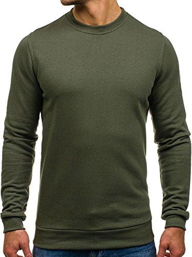 BOLF - Felpa - Pullover - Manica lunga - Maglione - Classic �?Motivo - 1A1 Khaki