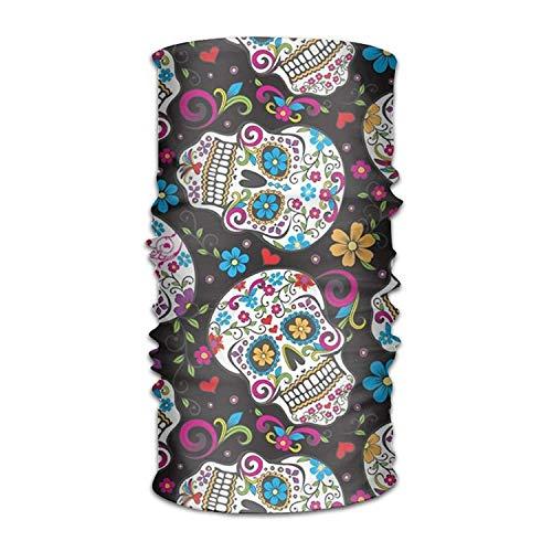 Voxpkrs Magic Headwear Sugar Skulls Colored Outdoor Scarf Headbands Bandana Mask Neck Gaiter Head Wrap Mask Sweatband