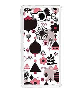 Fuson Designer Back Case Cover for Xiaomi Redmi 2 :: Xiaomi Redmi 2S :: Xiaomi Redmi 2 Prime (Flowers Leaves birds Huts Christmas tree)