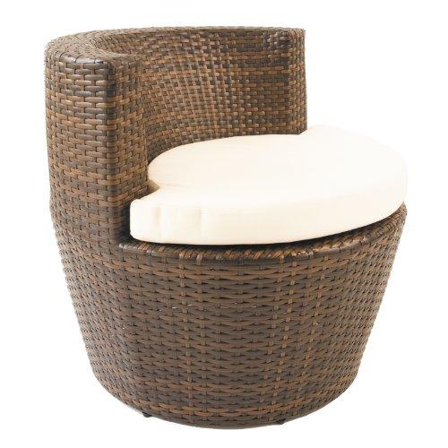 Oseasons Provence rund Stuhl mit Sitz Pad (Chaise Wicker)