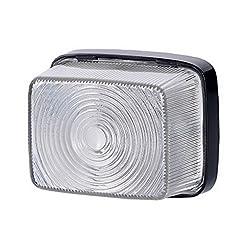 1x anteriore bianco luce di indicatore laterale 12V 24V e-contrassegnato auto camion rimorchio luce di posizione illuminazione Outline Quadrat quadrato universale lampadina