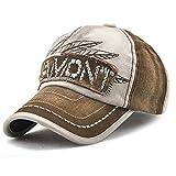 Berretto da baseball Unisex retrò regolabile Baseball Hat Tioamy Leisure cappuccio elegante tappo di cotone lettera Outdoor Hat per gli uomini e per le donne