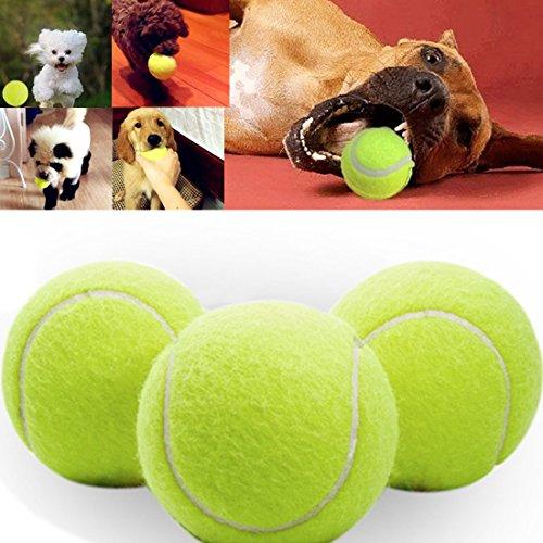 Keysui 24cm Durchmesser Hund Chew Spielzeug Pet Ball Spielzeug Riesen Tennis Ball für große Haustier spielen Ausübung