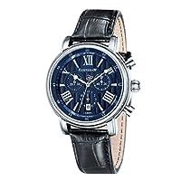 Thomas Earnshaw ES-0016-02 - Reloj analógico para hombre con esfera analógica de color azul y correa de cuero negra de Thomas Earnshaw Swiss made watches