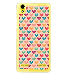 Fuson Designer Back Case Cover for Lenovo A6000 :: Lenovo A6000 Plus :: Lenovo A6000+ (Love Love Hearts Infactuation Togather In Relationship)
