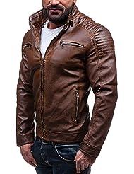 BOLF - Veste - Faux cuir - Fermeture éclair – EXTREME EX306 – Homme