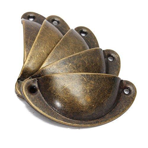 Arpoador 10 pcs de Cuisine Porte de Placard Armoire Tasse Meubles de tiroir Coque Antique Poignée de Traction 82 * 35 mm