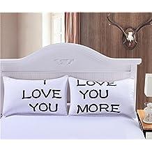 Pareja de fundas almohadas te quiero elegante diseño dormitorio, regalo recien casados, caravana,