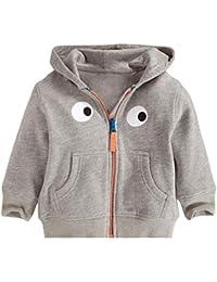 Kaily kleiner Junge und kleines Mädchen Baumwolle Langarm Mit Kapuze Sweatshirts Mantel