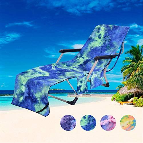 r Tragbarer Strand Pool Liegestuhl Abdeckung Badetuch Tasche 2 Taschen Terrasse Chaise Covers Outdoor Handtuch Green ()