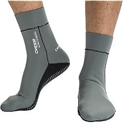 Cressi Neoprensocken Ultra Stretch Boots Escarpines de Neopreno, Unisex, Gris/Blanco, L