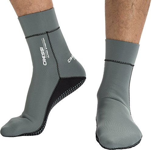 Cressi Uni Neoprensocken Ultra Stretch Boots, grau, M, DF200031