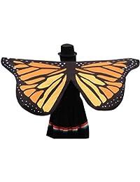 TOOGOO(R) Fashion Women Lady Lovely Butterfly Wings Pattern Scarf Wrap Shawl Cape, Orange