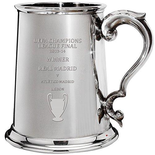 UEFA Champions League Winner Real Madrid 2013-14, 1pt Pewter Celebration Tankard, Football Champion