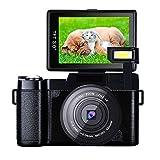 Videokamera Camcorder Full HD Digitalkamera 1080p 24.0MP 3.0 Zoll 180 Grad drehbarer Bildschirm mit Kameratasche und Retractable Flashlight