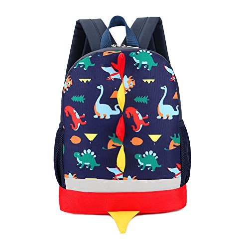 b38f32ea3f Uworth Dinosaur Kids Backpack Rucksack Boys for Toddler Kindergarten Navy