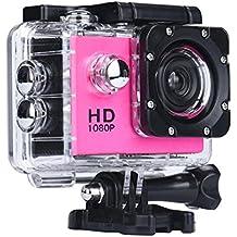 Switchali WIFI Impermeable De Los Deportes De DV Mini 1080P HD DVR Grabadora De Acciones VideocáMara Del Coche De La CáMara Rosa Fuerte