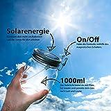 Das saubere Licht – Solarglas von Southlake welches als Solarlampe / Laterne / Solar Sun Jar / Garten-lampe für Balkon oder Garten genutzt wird. Alternative für gewöhnliche Solarleuchte -