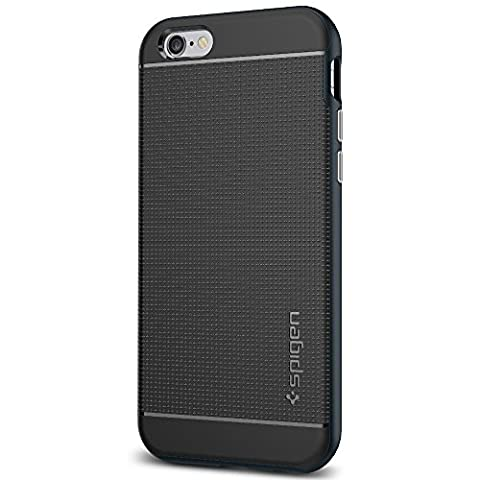 Coque iPhone 6s, Spigen [Boutons Métallique] Neo Hybrid Coque pour Apple iPhone 6 (2014) / iPhone 6s (2015) - Metal Slate (SGP11619)