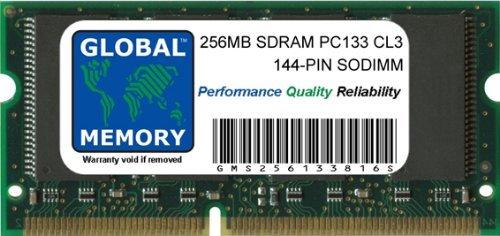 GLOBAL MEMORY 256MB PC133 133MHz 144-PIN SDRAM SODIMM ARBEITSSPEICHER RAM FÜR NOTEBOOKS - Pin Sodimm Pc133 Laptop Arbeitsspeicher