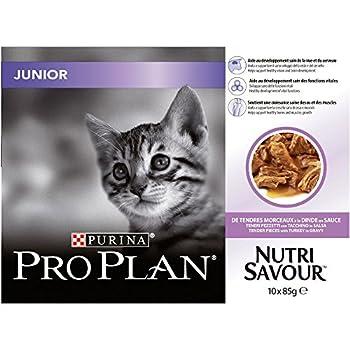 Nestle ProPlan Nutrisavour Junior Nourriture Pochon à Dinde pour Chaton 10 x 85 g,Lot de 4