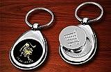 Schlüsselanhänger mit Foto und Einkaufschip selbst Gestalten und Bedrucken✓ Anhänger für Schlüsselbund✓ Fotogeschenkidee✓ Schlüsselband aus Metall mit magnetischem Chip✓ Einkaufswagenchip✓