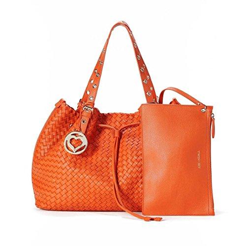 """Borsa donna Shopping intrecciata TWIN-SET - AS67M4 Arancio """"Gerbera"""""""