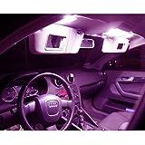 Kit d'éclairage intérieur de qualité supérieure pour votre voiture – Montage facile – Contenu de la livraison : couleurs disponibles : blanc, bleu, rouge, vert, jaune, rose