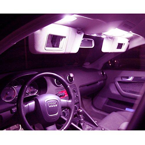 Premium Innenraumbeleuchtung Set- SMD plug und play - Lichtpaket erhältlich in Farben weiß blau rot grün gelb pink   pink