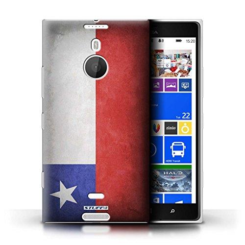 Coque en plastique pour Nokia Lumia 1520 Collection Drapeau - Finlande/finlandais Chili/Chiliean