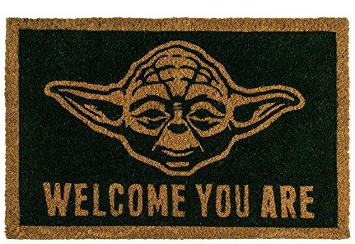 Bada Bing Fußmatte Türmatte Meister Yoda Welcome You Are Kokosmatte 60 x 40 Star Wars 10