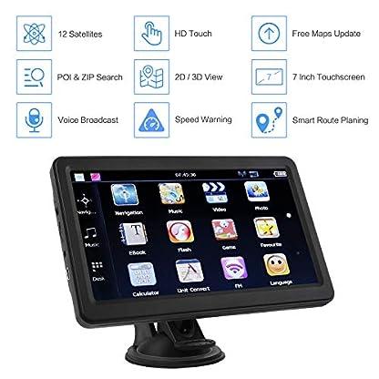 GPS-Navi-Navigationsgerte-fr-Auto-Navigation-fr-Auto-LKW-PKW-Touchscreen-7-Zoll-8G-256M-Sprachfhrung-Blitzerwarnung-mit-POI2019-Europa-UK-52-Kartenkostenloses-Karte-Update