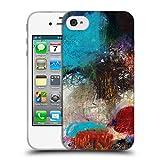 Head Case Designs Offizielle Michel Keck Glauben Und Geduld Abstrakt 2 Soft Gel Hülle für iPhone 4 / iPhone 4S