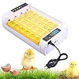 KinshopS Automatische Eier Inkubator 24 Hühnerei Vollautomatische Brutmaschine Eierinkubator Motorbrüter Hühner Inkubatoren mit Temperaturregler