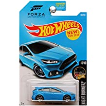 Hot Wheels, 2016 Night Burnerz, Forza Motorsport 16 Ford Focus RS [Blue