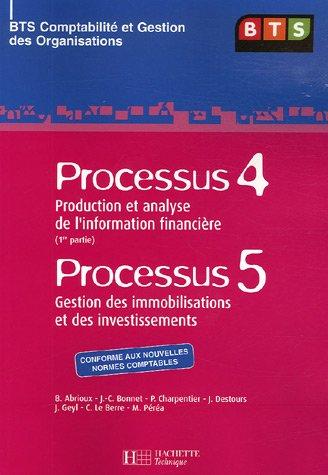Processus 4 : Production et analyse de l'information financière ; Processus 5 : Gestion des immobilisations et des investissements : BTS Comptabilité et Gestion des Organisations