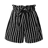 Daysing Shorts Femme, Short en Coton à Rayures Multicolores DéContracté...
