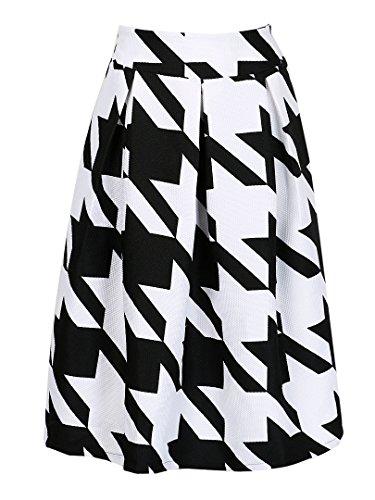 choies-para-mujer-bloque-de-color-de-pata-de-impresion-de-alta-cintura-plisado-skater-midi-falda