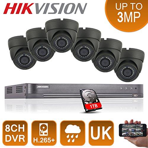 6-x-full-HD-1080p-sistema-DVR-8-canales-Hikvision-CCTV-HDMI-P2P-Seguridad-Cmaras-Domo-24-MP-con-1-TB-Disco-duro