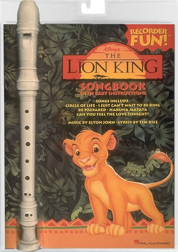 The Lion King [With Recorder] (Recorder Fun!) -