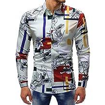 Polo de Hombre de BaZhaHei, Blusa Impresa de la Manera del Hombre Camisas Ocasionales de