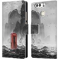 Ufficiale Daniel Conway Cabina telefonica Scene Surreali Cover a portafoglio in pelle per Huawei P9