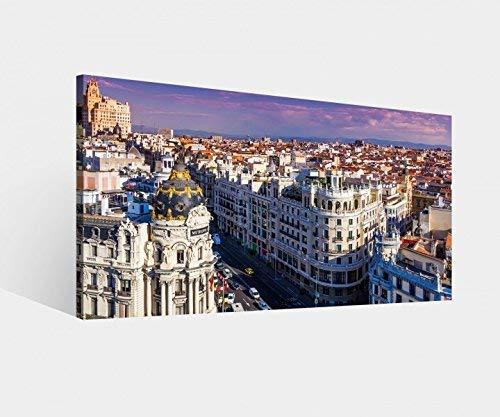 Foto Lienzo Gran vía Street Madrid España Paisaje